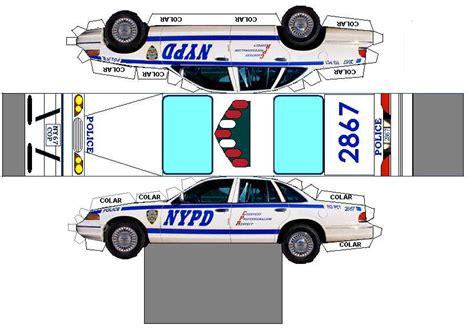 Patrol Car Paper Craft papiromodels policia de york