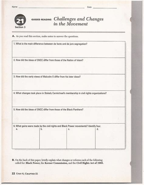 nationalism and sectionalism worksheet ch 21 civil rights mr k s website