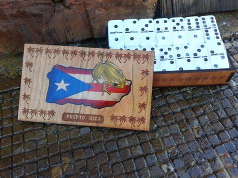 Handmade Dominoes Set - six domino set with handmade