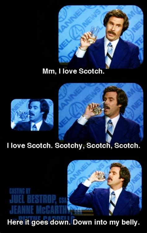 Ron Burgundy Scotch Meme - 17 curated anchor man ideas by kad6704 legends scotch