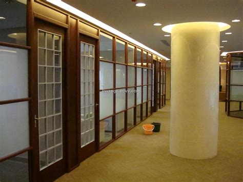 wooden partitions office design with wood trim glass wall medium 80 x 80