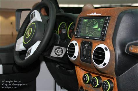2013 Jeep Wrangler Interior Accessories by Jeep Wrangler Recon 2013 Mopar Moab Concept
