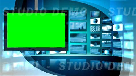 green screen video background virtual set  left