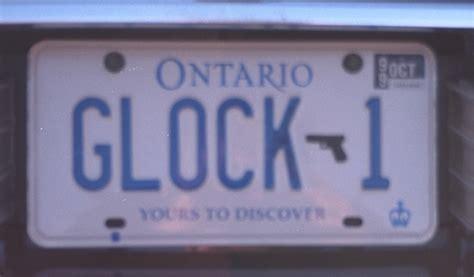 License Plate Lookup Ontario Ontario Canada Glock 1 License Plate