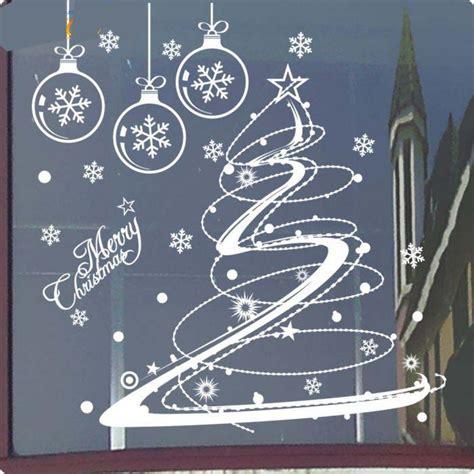 zooyoo christmas wall stickers christmas tree snowflake
