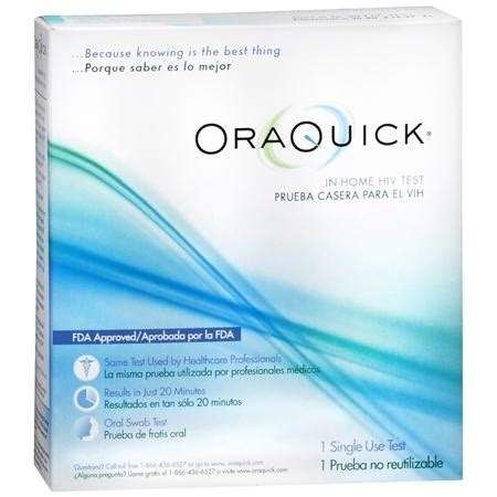 At Home Test by Oraquick In Home Hiv Test Walgreens