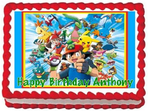 pokemon edible frosting sheet cake topper  sheet cake topper designs peewees