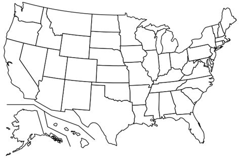 us map outline with states blank outline map united states pdf