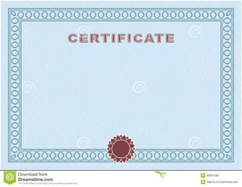 blue certificate template blue blank certificate stock vector image 49091589