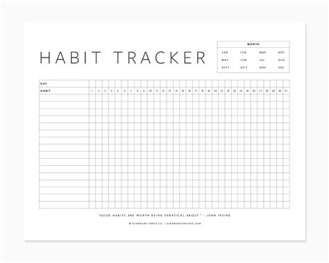 2018 the ultimate planner habit tracker and journal books free printable habit tracker evermore paper co