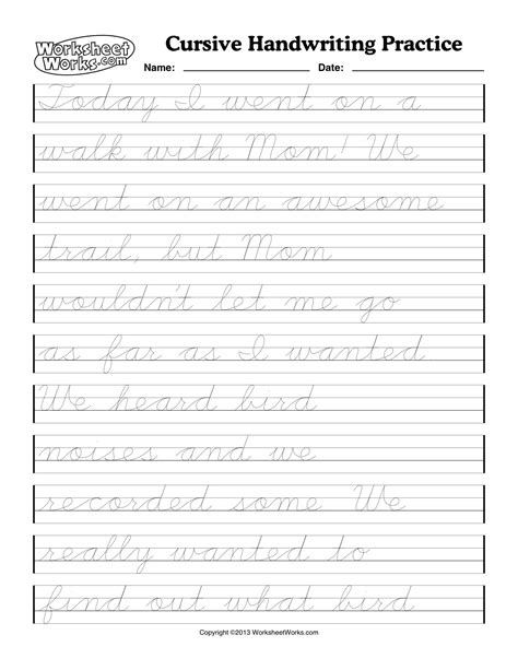 Worksheet On Cursive Writing Practice by Cursive Handwriting Practice Sheets