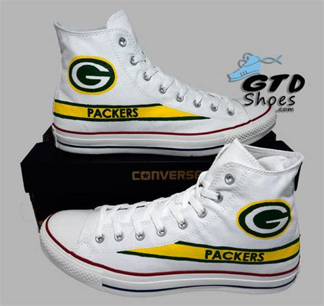 green bay packer sneakers painted converse hi green bay from genuine touch designs
