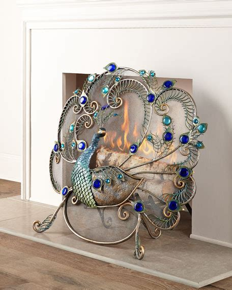 peacock home decor sale janice minor peacock fireplace screen