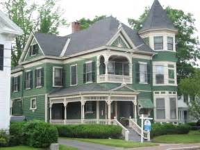 Green Colored Houses dark green colored house victorian house colors with