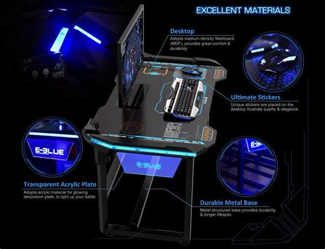 bureau pour pc gamer un bureau 100 gaming pc chez e blue