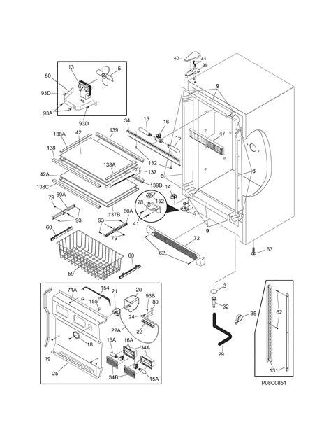 kenmore elite model  upright freezer genuine parts