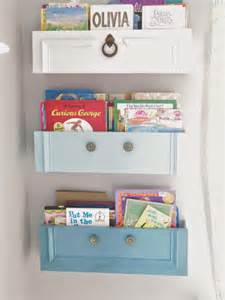 hometalk how to upcycled dresser drawers into shelves