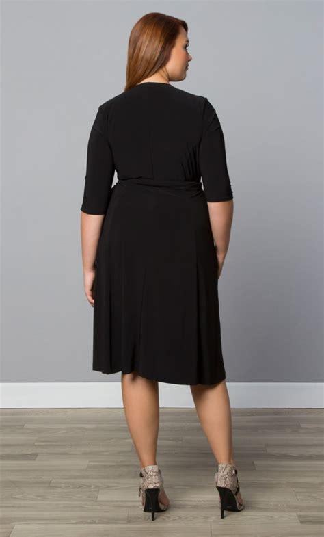 pre order essential wrap dress black noir wrap