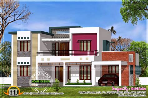 3 bedroom modern flat roof house layout kerala home design flat roof contemporary floor plans kerala home design and floor plans