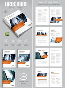 digital brochure templates unique brochure templates 5 best agenda templates