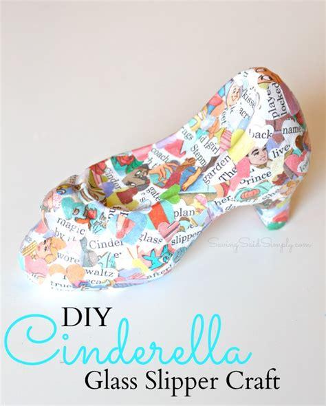 cinderella crafts for diy cinderella craft glass slipper