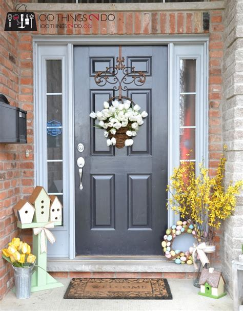 spring decorating ideas for your front door spring front porch 100 things 2 do