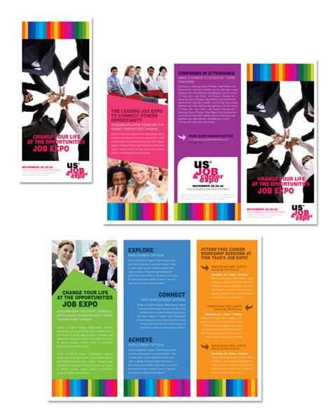 career brochure template expo career fair tri fold brochure template