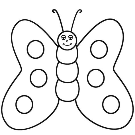 Butterfly Coloring Page For Kindergarten | butterfly coloring pages preschool coloring home