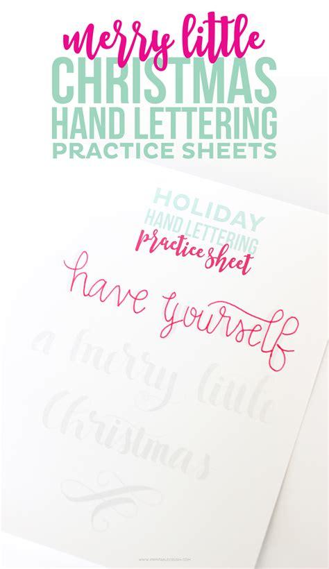 printable christmas hand lettering practice sheets printable crush