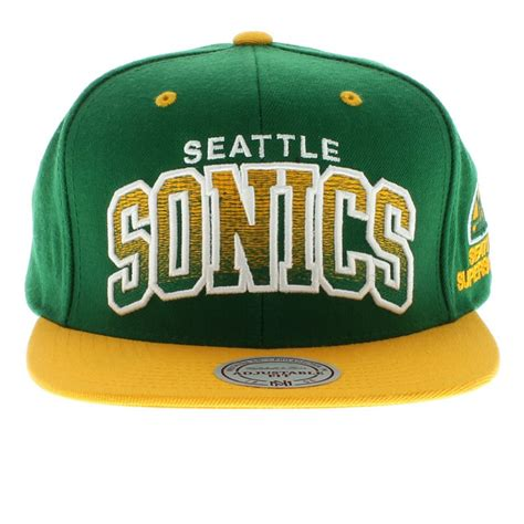 seattle supersonics team colors the arch gradient snapback
