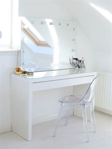 Ikea Vanity Table With Mirror And Bench Makeup Storage Ideas Mirror Ghost Chairs And Dressing Tables