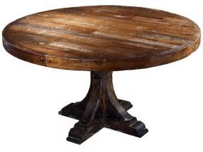 Rustic Round Dining Room Tables Rustic Style Solid Wood Round Dining Table