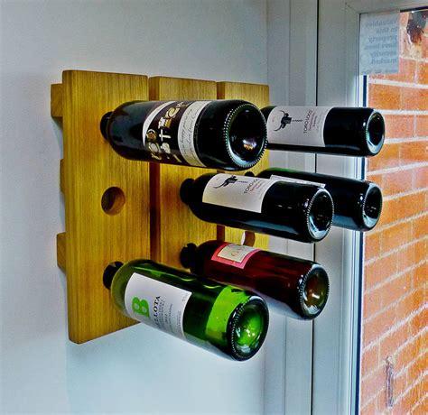 Handmade Wine Racks - wine rack wall mounted handmade in solid oak by thumb