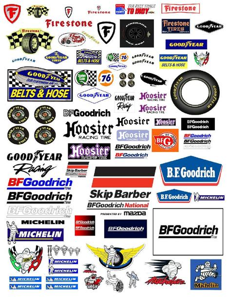 Car Sticker 24 by 1 24 1 18 Tire Decals For Diecast Model Car Dioramas