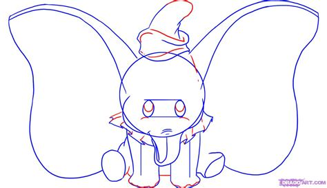 Drawing Step By Step Disney Characters by How To Draw Dumbo Step By Step Disney Characters