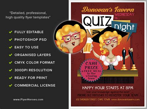trivia night flyer template free telemontekg me