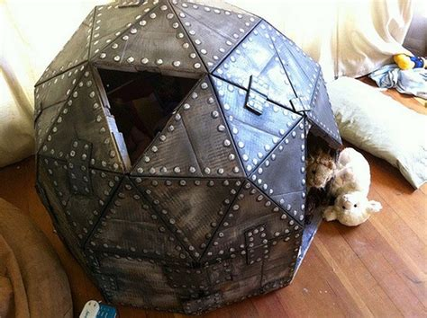 cardboard play dome craft projects