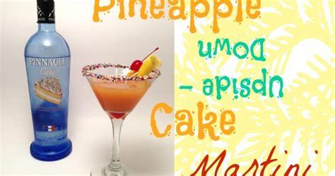 domestic femme pineapple upside down cake martini