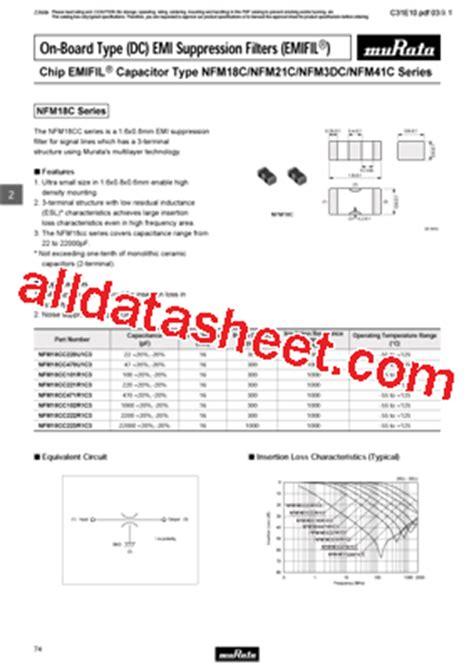 murata capacitors datasheet nfm21cc223r1h3 datasheet pdf murata manufacturing co ltd