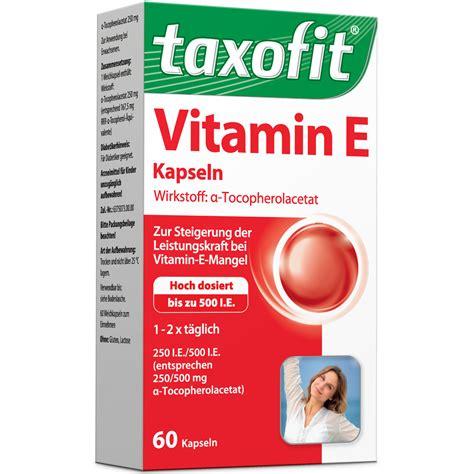 Vitamin E Shop taxofit 174 vitamin e shop apotheke
