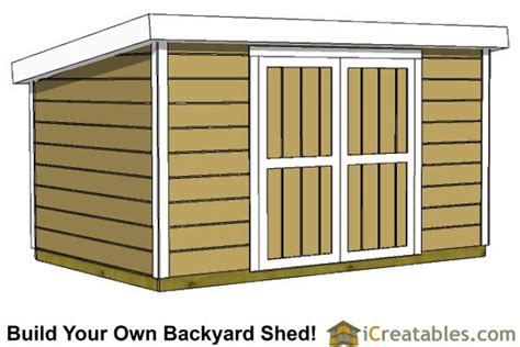 foot tall lean  shed plans short storage shed
