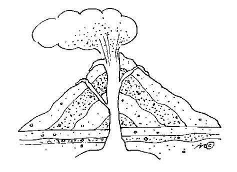 volcano coloring pages preschool volcano coloring pages