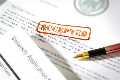 College Acceptance Letter When news for college applicants getting in is easier