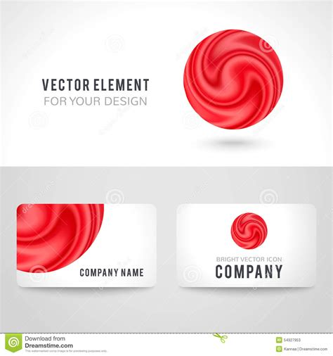 business card set template business card template set abstract circle stock
