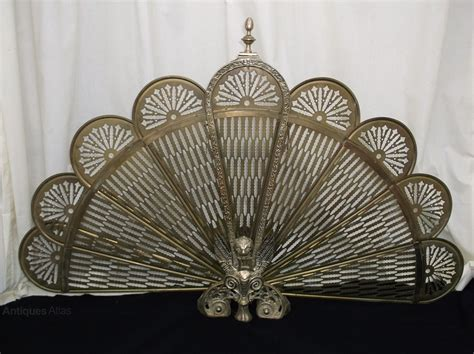 Antiques Atlas Vintage Brass Folding Fan Fire Screen Brass Fan Fireplace Screen