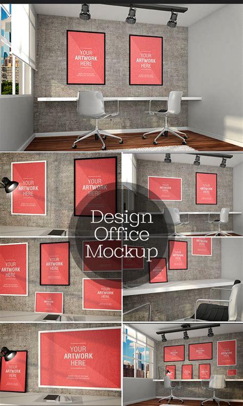 design office mockup presentation mockups for print design resources
