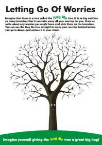 Fingerprint tree on healthy coping skills worksheet