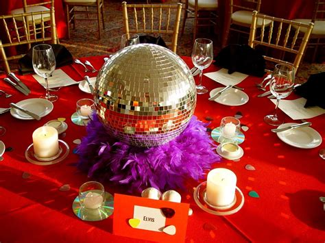 these disco inspired centerpieces are for any