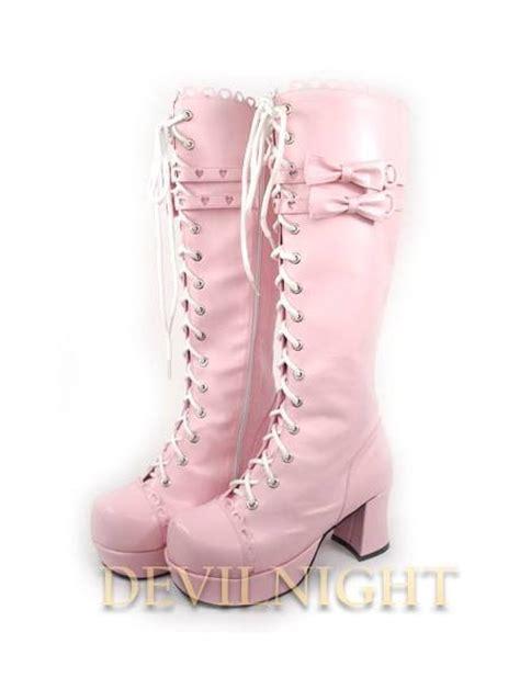 whitepinkblack lace  high heel sweet lolita boots