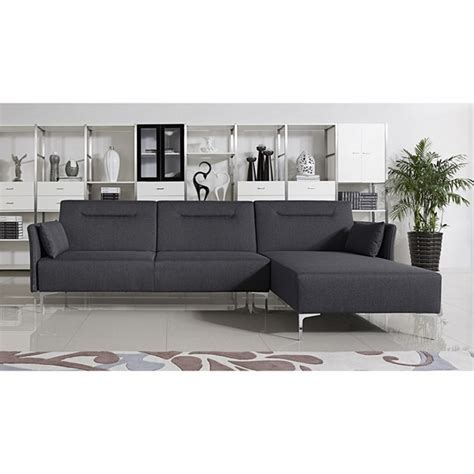 divani sofa bed divani casa rixton modern grey fabric sofa bed sectional